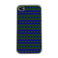 Split Diamond Blue Green Woven Fabric Apple Iphone 4 Case (clear) by Mariart