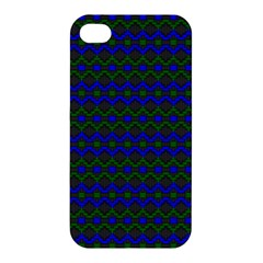 Split Diamond Blue Green Woven Fabric Apple Iphone 4/4s Premium Hardshell Case by Mariart