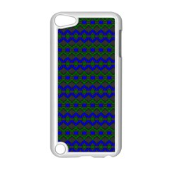 Split Diamond Blue Green Woven Fabric Apple Ipod Touch 5 Case (white) by Mariart