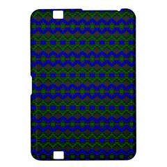Split Diamond Blue Green Woven Fabric Kindle Fire Hd 8 9  by Mariart