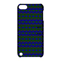 Split Diamond Blue Green Woven Fabric Apple Ipod Touch 5 Hardshell Case With Stand by Mariart