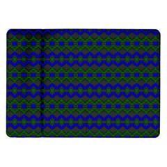 Split Diamond Blue Green Woven Fabric Samsung Galaxy Tab 10 1  P7500 Flip Case by Mariart