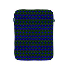 Split Diamond Blue Green Woven Fabric Apple Ipad 2/3/4 Protective Soft Cases by Mariart
