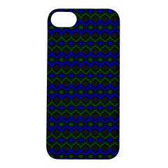Split Diamond Blue Green Woven Fabric Apple Iphone 5s/ Se Hardshell Case by Mariart