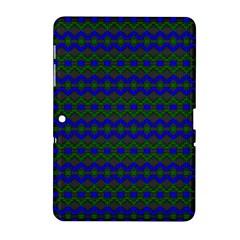 Split Diamond Blue Green Woven Fabric Samsung Galaxy Tab 2 (10 1 ) P5100 Hardshell Case  by Mariart