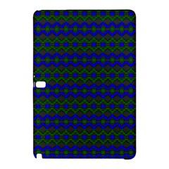 Split Diamond Blue Green Woven Fabric Samsung Galaxy Tab Pro 12 2 Hardshell Case by Mariart