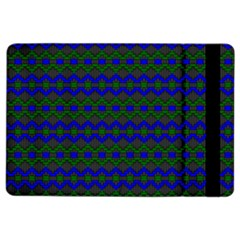 Split Diamond Blue Green Woven Fabric Ipad Air 2 Flip by Mariart