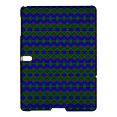Split Diamond Blue Green Woven Fabric Samsung Galaxy Tab S (10 5 ) Hardshell Case  by Mariart