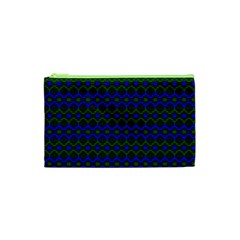 Split Diamond Blue Green Woven Fabric Cosmetic Bag (xs) by Mariart