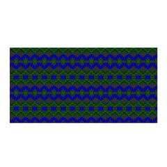 Split Diamond Blue Green Woven Fabric Satin Wrap by Mariart
