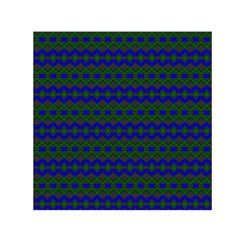 Split Diamond Blue Green Woven Fabric Small Satin Scarf (square) by Mariart