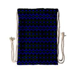 Split Diamond Blue Green Woven Fabric Drawstring Bag (small) by Mariart
