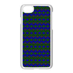 Split Diamond Blue Green Woven Fabric Apple Iphone 7 Seamless Case (white) by Mariart