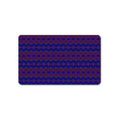 Split Diamond Blue Purple Woven Fabric Magnet (name Card) by Mariart