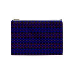 Split Diamond Blue Purple Woven Fabric Cosmetic Bag (medium)  by Mariart