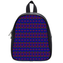 Split Diamond Blue Purple Woven Fabric School Bags (small)  by Mariart