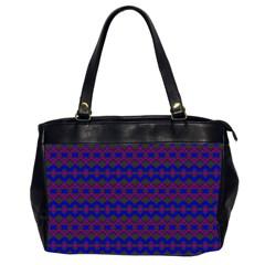Split Diamond Blue Purple Woven Fabric Office Handbags (2 Sides)  by Mariart