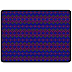 Split Diamond Blue Purple Woven Fabric Fleece Blanket (large)  by Mariart