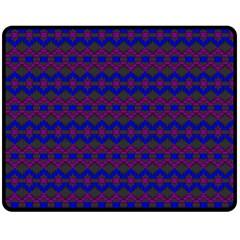 Split Diamond Blue Purple Woven Fabric Fleece Blanket (medium)  by Mariart