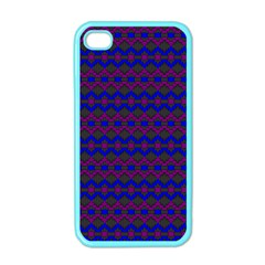 Split Diamond Blue Purple Woven Fabric Apple Iphone 4 Case (color) by Mariart