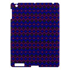 Split Diamond Blue Purple Woven Fabric Apple Ipad 3/4 Hardshell Case by Mariart
