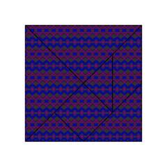 Split Diamond Blue Purple Woven Fabric Acrylic Tangram Puzzle (4  X 4 ) by Mariart