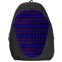 Split Diamond Blue Purple Woven Fabric Backpack Bag by Mariart