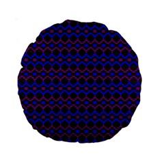 Split Diamond Blue Purple Woven Fabric Standard 15  Premium Round Cushions by Mariart