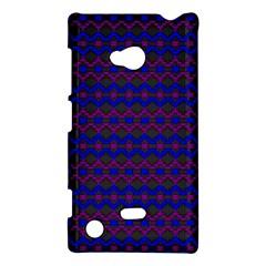 Split Diamond Blue Purple Woven Fabric Nokia Lumia 720 by Mariart