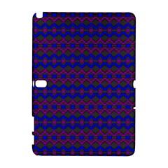 Split Diamond Blue Purple Woven Fabric Galaxy Note 1 by Mariart