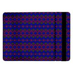 Split Diamond Blue Purple Woven Fabric Samsung Galaxy Tab Pro 12 2  Flip Case by Mariart