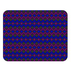 Split Diamond Blue Purple Woven Fabric Double Sided Flano Blanket (large)  by Mariart