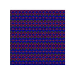 Split Diamond Blue Purple Woven Fabric Small Satin Scarf (square) by Mariart