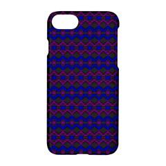 Split Diamond Blue Purple Woven Fabric Apple Iphone 7 Hardshell Case by Mariart