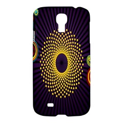 Polka Dot Circle Leaf Flower Floral Yellow Purple Red Star Samsung Galaxy S4 I9500/i9505 Hardshell Case by Mariart