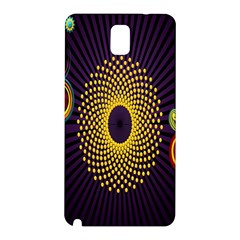 Polka Dot Circle Leaf Flower Floral Yellow Purple Red Star Samsung Galaxy Note 3 N9005 Hardshell Back Case by Mariart