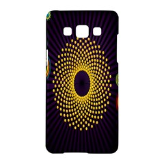 Polka Dot Circle Leaf Flower Floral Yellow Purple Red Star Samsung Galaxy A5 Hardshell Case  by Mariart