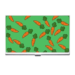 Carrot Pattern Business Card Holders by Valentinaart