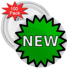 New Icon Sign 3  Buttons (100 Pack)  by Mariart