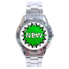 New Icon Sign Stainless Steel Analogue Watch by Mariart