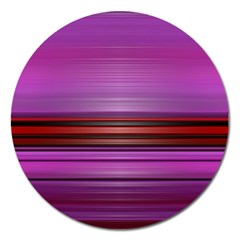 Stripes Line Red Purple Magnet 5  (round) by Mariart