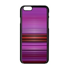 Stripes Line Red Purple Apple Iphone 6/6s Black Enamel Case by Mariart