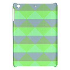 Squares Triangel Green Yellow Blue Apple Ipad Mini Hardshell Case by Mariart