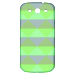 Squares Triangel Green Yellow Blue Samsung Galaxy S3 S Iii Classic Hardshell Back Case by Mariart