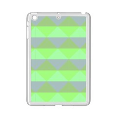 Squares Triangel Green Yellow Blue iPad Mini 2 Enamel Coated Cases by Mariart