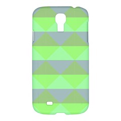Squares Triangel Green Yellow Blue Samsung Galaxy S4 I9500/i9505 Hardshell Case by Mariart