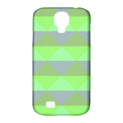 Squares Triangel Green Yellow Blue Samsung Galaxy S4 Classic Hardshell Case (pc+silicone) by Mariart
