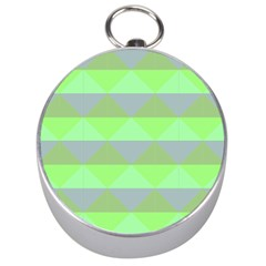 Squares Triangel Green Yellow Blue Silver Compasses