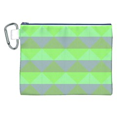 Squares Triangel Green Yellow Blue Canvas Cosmetic Bag (xxl) by Mariart