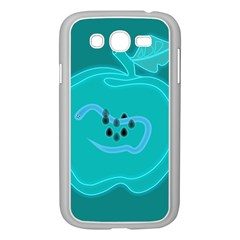 Xray Worms Fruit Apples Blue Samsung Galaxy Grand Duos I9082 Case (white) by Mariart
